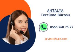 Antalya Tercüme Bürosu