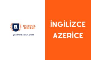 İngilizce Azerice Tercüme