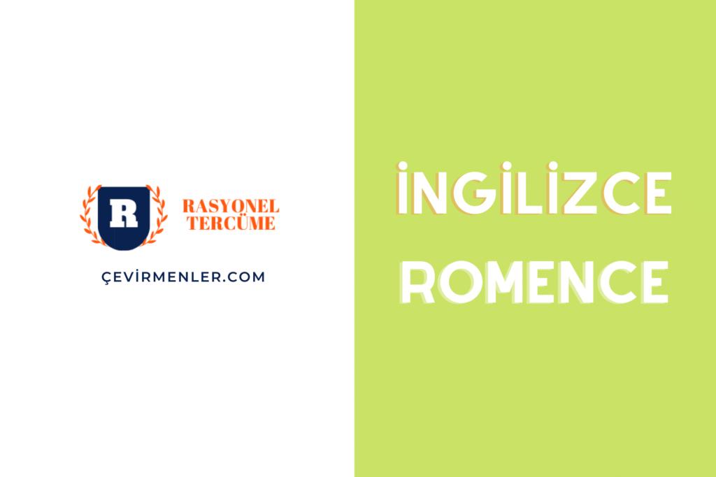 İngilizce Romence (Rumence) Tercüme