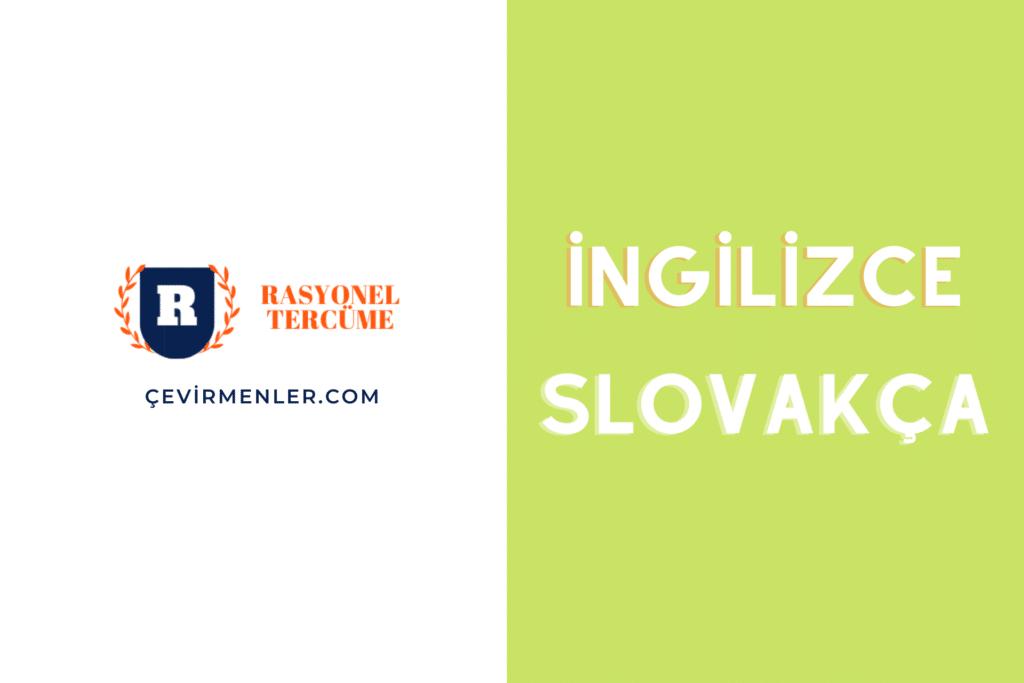 İngilizce Slovakça Tercüme