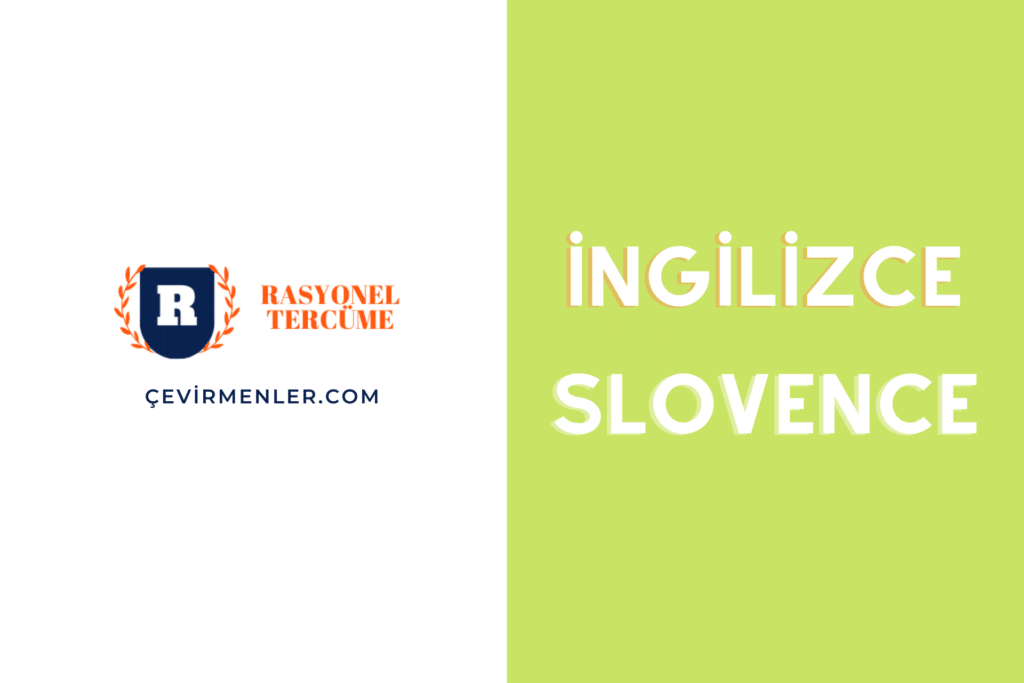 İngilizce Slovence Tercüme