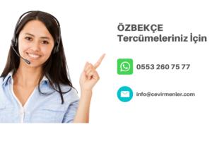 Özbekçe Tercüme